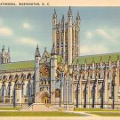 Washington, DC National Cathedral Linen Postcard (B394)