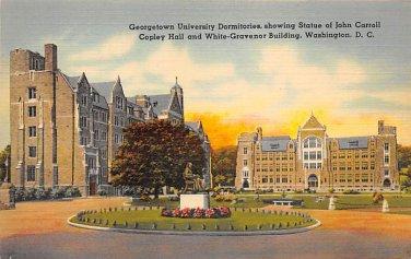 Washington, DC Georgetown University Postcard (B395)