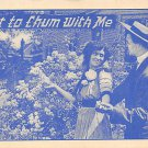 Want to chum with Me - Romance Postcard (B417)