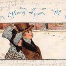 An Offering From My Heart - Romance Postcard (B427)