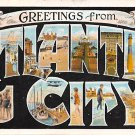 Atlantic City Large Letter Postcard 1926 (B432)