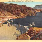 Boulder Dam Lake Mead in Black Canyon Postcard 1948 (B473)