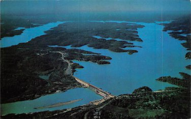 Bagnell Dam Aerial View Osage River Postcard (B480)