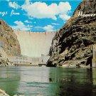Hoover Dam Greetings From - Neveda - Arizona Postcard (B487)