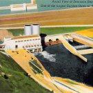 Dennison Dam - Red River between Texas, Oklahoma Postcard (B490)