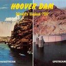 Hoover Dam - Downstream, Upstream Postcard (B496)
