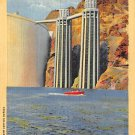 Boulder Dam Intake Towers From Lake Mead Postcard (B525)
