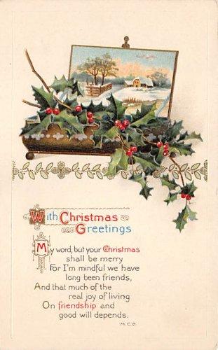 With Christmas Greetings - Embossed (B536-537)