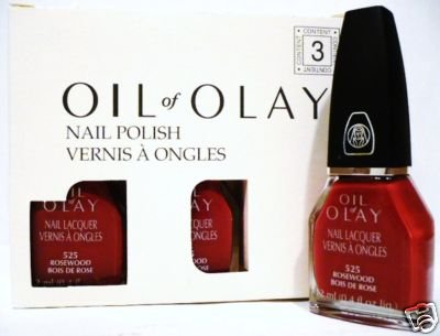 OIL of OLAY NAIL LACQUER ROSEWOOD # 525 - 3 Pieces