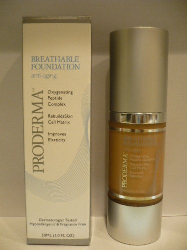Proderma Breathable Foundation Anti-Aging  Oxygenating Peptide Complex HONEY