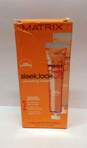 Matrix Sleek Look Smooth Recovery Treatment 5 Treatments .67 fl.oz Each