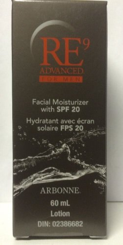 Arbonne RE9 Advanced Facial Moisturizer For Men SPF 20 Exp 7/2015