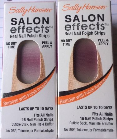 2 Sally Hansen Salon Effects Nail Polish Strips #04 Candy Stripe