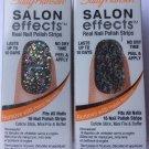 2 Sally Hansen Salon Effects Real Nail Polish Strips  #210 FROCK STAR Glitter