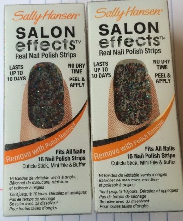 2 Sally Hansen Salon Effects Nail Strips Kit 16ct Each Frock Star 210