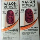 2 Sally Hansen Salon Effects Zebra Nail Polish Strips # 440 ANIMAL INSTINCT