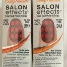 2 Sally Hansen Salon Effects Nail Polish Strips * 420 SWEET TART-AN