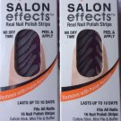 2 Sally Hansen Salon Effects Nail Polish Strips # 385 MANE EVENT Limited Edition