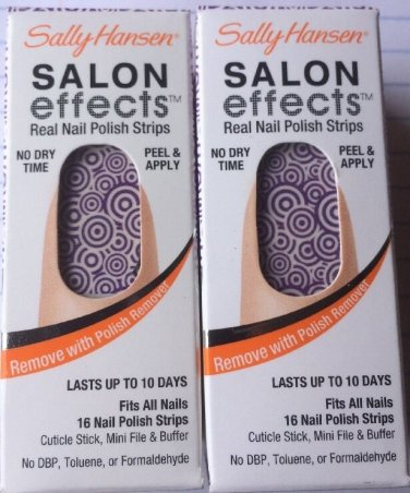 2 Sally Hansen Salon Effects Nail Polish Strips - 01 RING TOSS