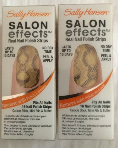 2 Sally Hansen Salon Effects Real Nail Polish Strips  Brattlesnake #450