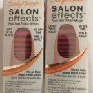 2 SALLY HANSEN #540 STRIP TEASE Salon Effects Nail Polish Strips