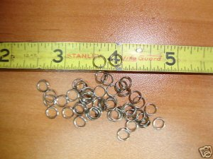 6mm NKL Fine Gauge Split Rings. 100pcs Jewelry, Lures