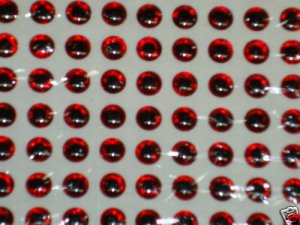 4mm Red 120pc 3D Holographic Eyes Lure Making Fly Tying
