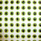 4mm Chartreuse 120pc 3D Holographic Eyes Lure Making