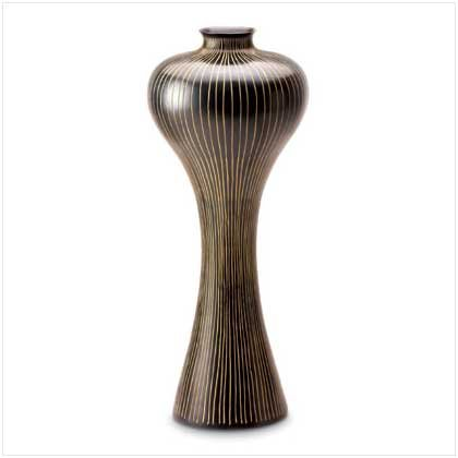 STRIPED AND SHAPELY VASE  Retail: $39.95