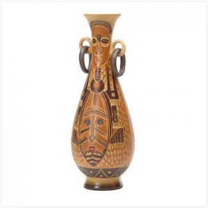 BSTRACT TRIBAL PATTERN VASE  Retail: $29.95