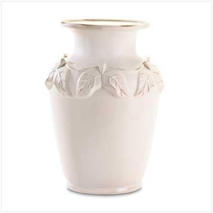WHITE PORCELAIN URN   Retail: $49.95