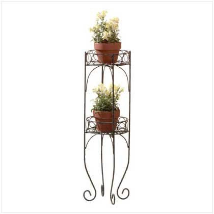 TWO-TIER PLANT STAND  Retail: $24.95