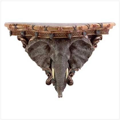 ELEPHANT WALL SHELF  Retail: $29.95