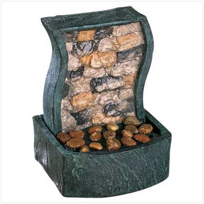ROCK WALL TABLETOP FOUNTAIN  Retail: $24.95
