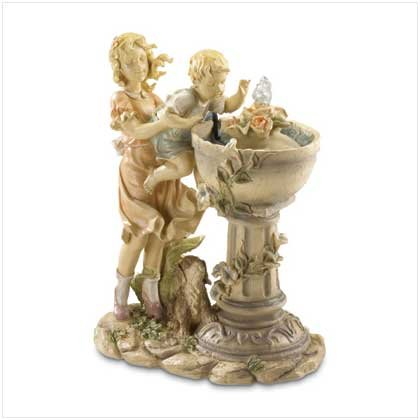 SISTER & BROTHER TABLE FOUNTAIN   Retail: $39.95