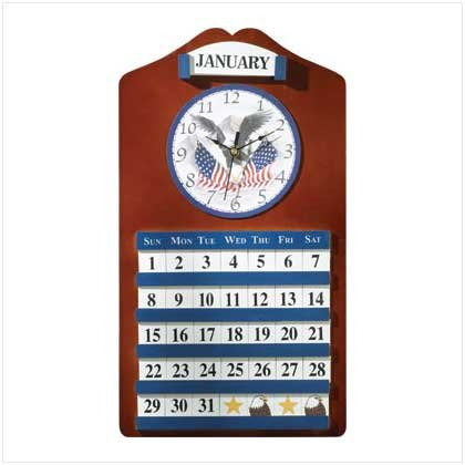 AMERICAN EAGLE CLOCK AND CALENDAR  RETAIL: $29.94