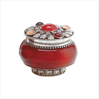 ROSE JEWELED-LID JAR CANDLE  Retail : $7.95
