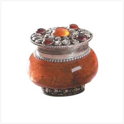 SANDALWOOD JEWELED-LID JAR CANDLE  Retail: $7.95