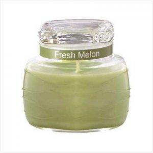 GREEN RIPPLE JAR CANDLE  Retail: $9.95
