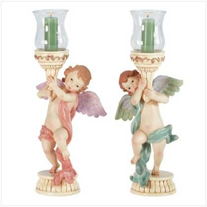 ANGELIC CANDLESTICK HOLDERS  Retail; $24.95