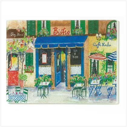 FRENCH CAFE CUTTING BOARD  Retail: $9.95