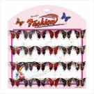 IRIDESCENT BUTTERFLY PINS  24 PACK