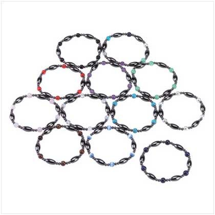 STYLISH MAGNETIC BRACELETS   12 PACK