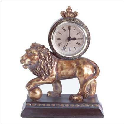GOLDEN LION CLOCK  Retail: $29.95