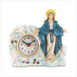 VIRGIN MARY CLOCK  Retail: $12.95