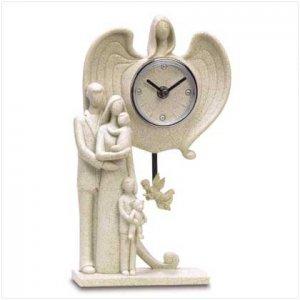 FAMILY GUARDIAN ANGEL CLOCK   Retail: $39.95