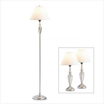 MIXED MATERIAL LAMP TRIO