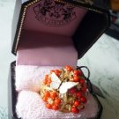 NIB Juicy Couture Blooming Coral Flower Butterfly Ring