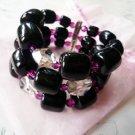 NIB Tarina Tarantino 3 Rows Crystal Cuff Bracelet  $170