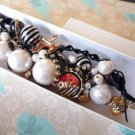 NWT Betsey Johnson Miami Chic Pearl Cluster Bracelet